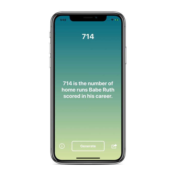 Number Facts Generator 12